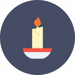 candle, christmas, glow, light, new year, winter, xmas icon