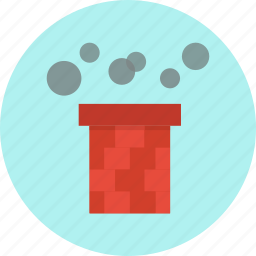 chimney, christmas, claus, santa, smoke icon