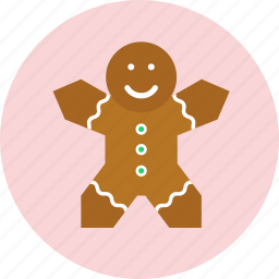 christmas, cookie, dessert, ginger, new year icon