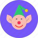 christmas, elf, help, helper, new year, santa icon