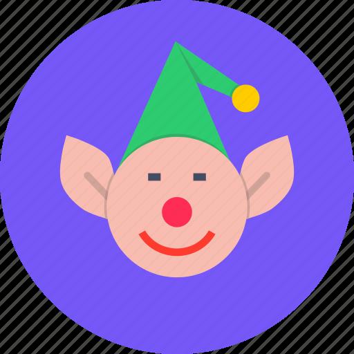 christmas, elf, help, helper, new year, santa icon
