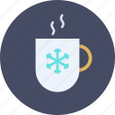 beverage, chocoloate, coffee, cold, cup, hot, winter icon