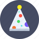 cap, christmas, clown, fun, merry, party icon