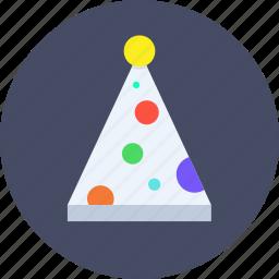 cap, christmas, clown, fun, merry, party icon
