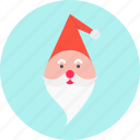 beard, cap, christmas, claus, new year, santa icon