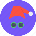 cap, christmas, claus, disguise, new year, santa, spectcles icon