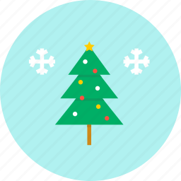 christmas, new year, snow, tree, winter icon