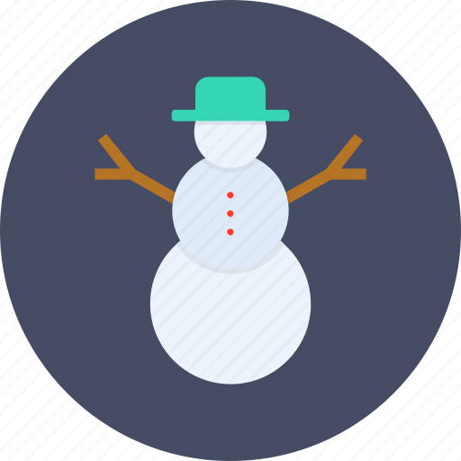 christmas, new year, snow, snowman, winter icon