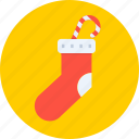 christmas, gift, new year, santa, socks, winter icon