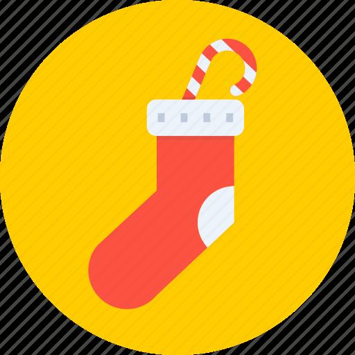christmas, gift, new year, santa, socks, winter icon