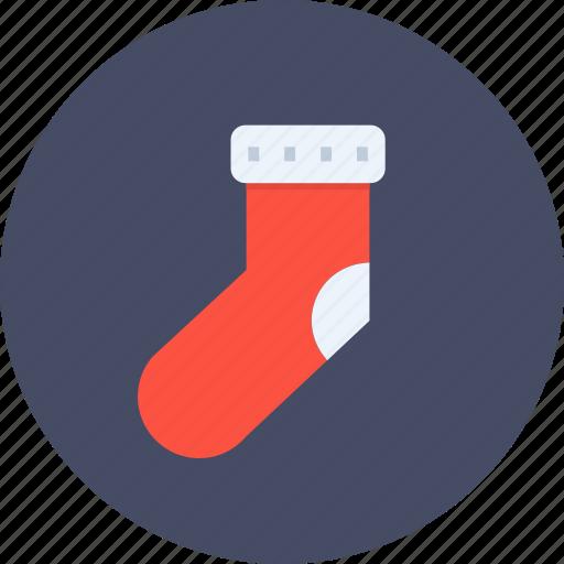 christmas, gift, new year, socks, winter icon