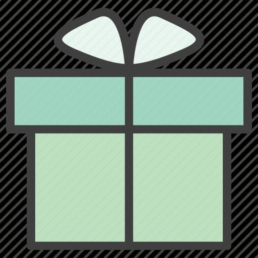 gift, gift box, gift enclosure icon