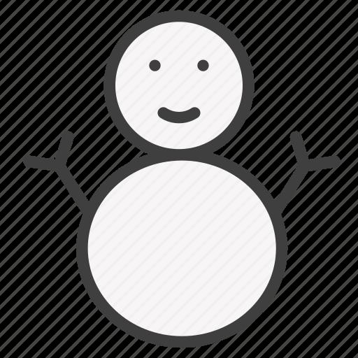 snow man, snowman icon