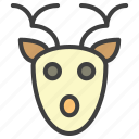 deer, face, santa icon