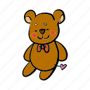 bear, birthday, christmas, doll, gift, present, teddy icon