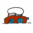 car, cold, snow, snowfall, stuck, winter icon