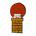 chimney, christmas, delivery, gift, home, santa claus, shipping icon