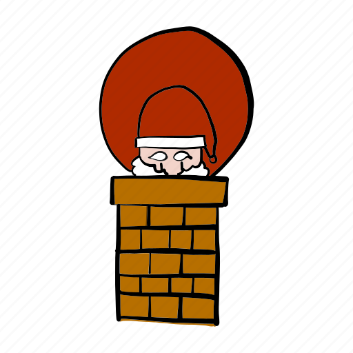 chimney, christmas, delivery, santa claus, shipping icon
