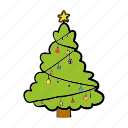 blessing, celebration, christmas, decoration, pine, tree icon