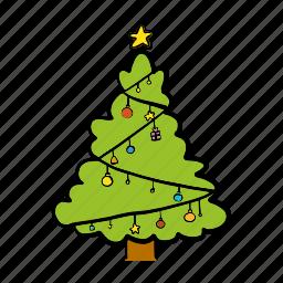 blessing, celebration, christmas, decoration, pine, tree, xmas icon