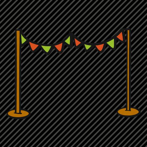 arch, decoration, festival, flag, party, pole icon