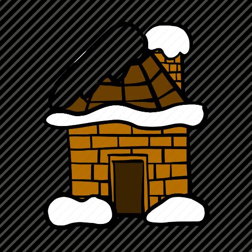 home, hut, snow, snowfall, winter icon