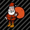 carry, celebration, christmas, gift, oldman, santa, xmas icon