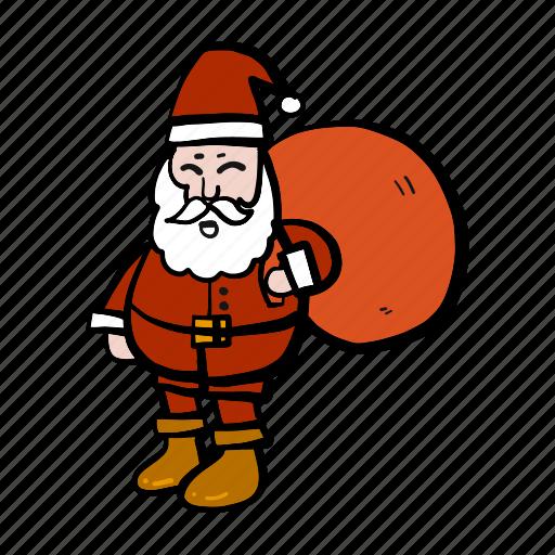 carry, christmas, oldman, santa, xmas icon
