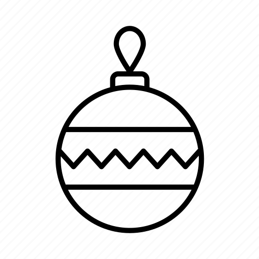 bauble, celebration, christmas, decoration, festive, newyear, winter icon