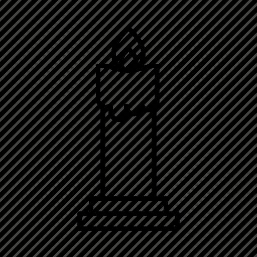 candle, fire, flame, idea, lamp, light icon