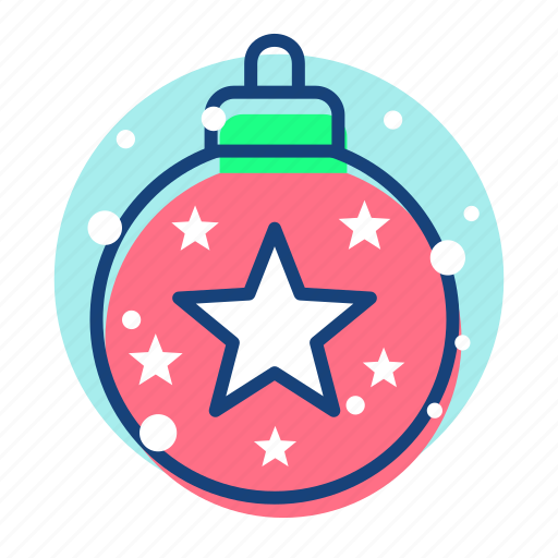 bauble, christmas, newyear, snow icon