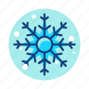christmas, newyear, snow, snowflake, winter icon