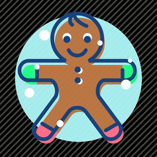 christmas, gingerbread, gingerbread man, man icon