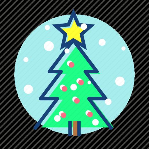 christmas, tree, winter icon