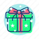 christmas, gift, newyear, winter icon