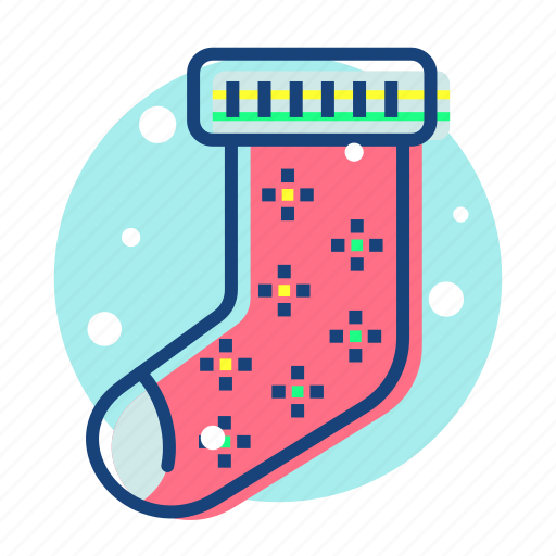 christmas, sock, stock, stocking, winter icon