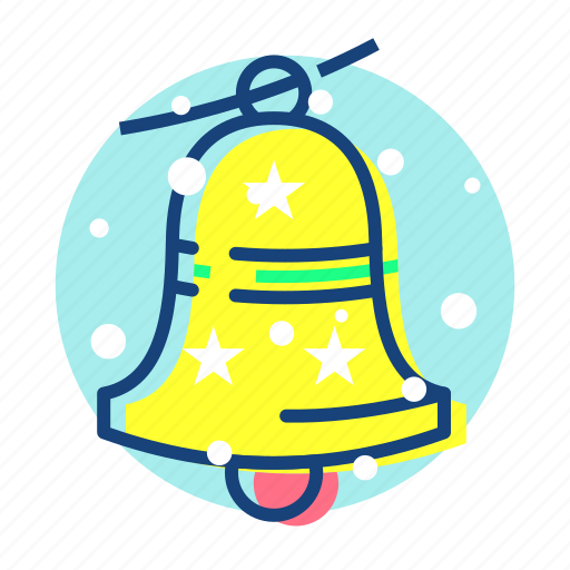 bell, christmas, newyear, snow icon