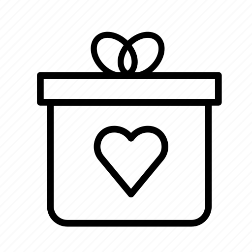 christmas, heart, party, present, winter icon