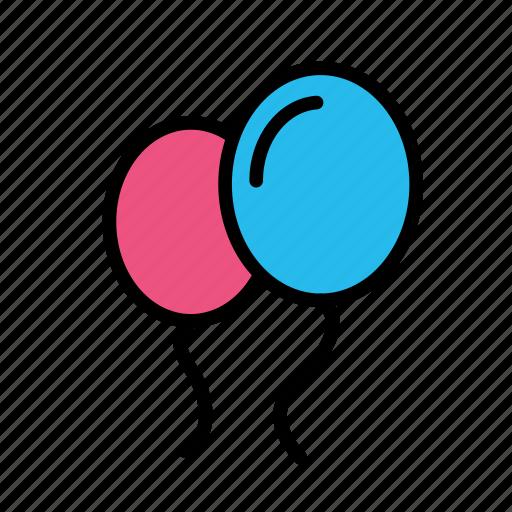 balloon2, christmas, party, winter icon