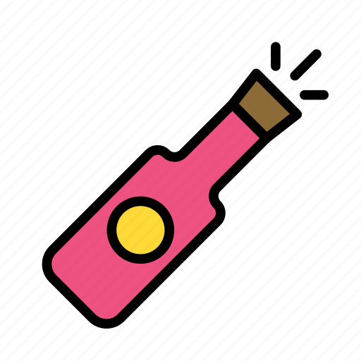 bottleparty, christmas, party, winter icon
