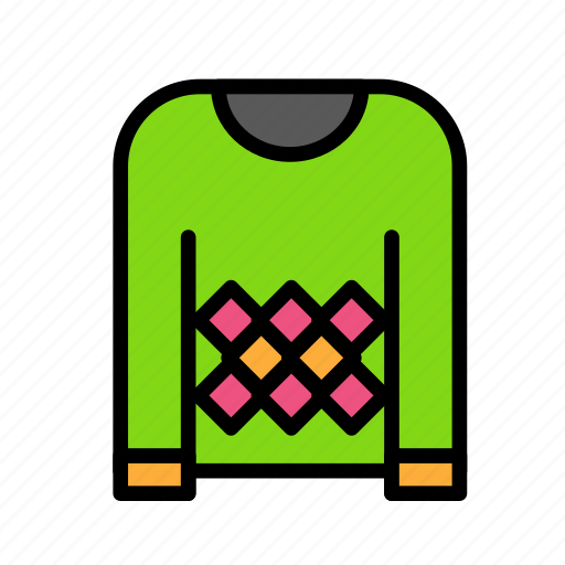 christmas, clothes, party, winter icon