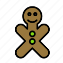 christmas, cookie, party, winter icon