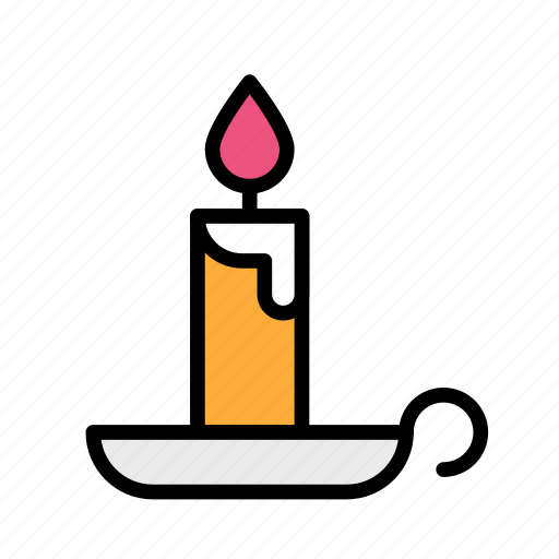 candle, christmas, church, party, winter icon