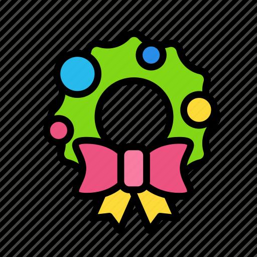 christmas, doordecor, party, winter icon