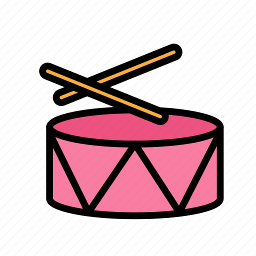 christmas, drums, party, winter icon