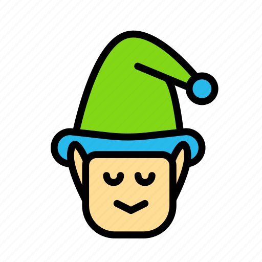christmas, elf, male, party, winter icon