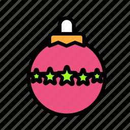 christmas, globe, party, winter icon