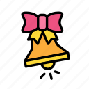 bell, christmas, party, winter icon