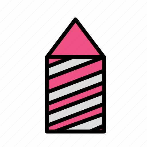 christmas, party, rocket, winter icon