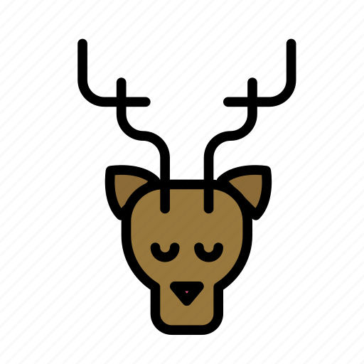 christmas, party, reindeer, winter icon